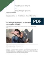 La Violencia Psicológica Un Fenómeno Depredador Del Siglo