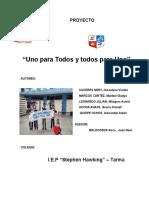 Sustentacion Del Proyecto UNOPARATODOSYTODOSPARAUNO