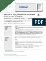 Eficacia de Las Ortesis Extensoras en El Postoperatorio de La Enfermedad de Dupuytren 2015 Rehabilitaci n