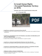 Weekly Report on Israeli Human Rights Violations in the Occupied Palestinian Territory (01 – 07 December 2016) _ Palestinian Center for Human Rights