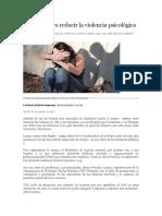 Acciones Para Reducir La Violencia Psicológica