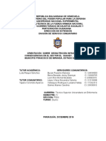 DESNUTRICION INFANTIL SERVICIO COMUNITARIO UNEFA
