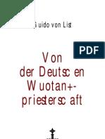 List, Guido Von - Von Der Deutschen Wuotanspriesterschaft (1893, 41 S.)