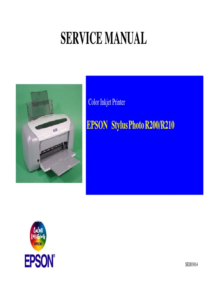 epson r200 210 service manual pdf printer computing rh es scribd com epson stylus photo r200 repair manual Epson RX500