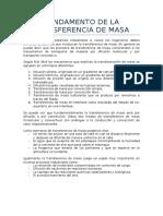 Fundamento de La Transferencia de Masa