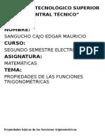 329699886 Propiedades Basicas de Las Funciones Trigonometricas Docx