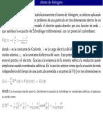 Hodrógeno, Ecuación de Schödinger, Numeros Cuanticos