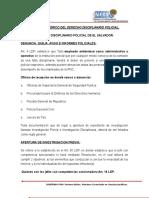 Sustento Teórico y Fundamento Legal Del Derecho Disciplinario Policial