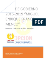 Plan de Gobierno 2016-2019