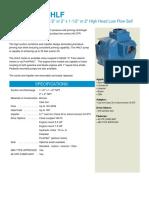 MP Flowserve High Head Low Flow (HHLF) Self Priming Centrifugal Pumps (Brochure)
