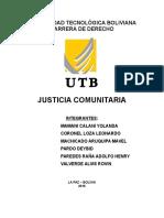 JUSTICIA COMUNITARIA