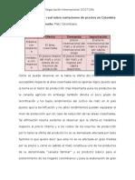 Variaciones de Precios en Colombia (ejemplo)