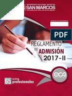 UNMSM - REGLAMENTO DE ADMISION 2017 - II