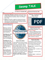 Swamp Talk, Okefenokee Toastmasters Newsletter, December 2016