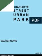 Charlotte Street Urban Park conceptual designs