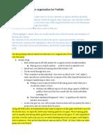 Portfolio Organization Documents