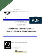 COVENIN 2002-1988 Criterios y Acciones para Proyectos de Edificaciones. Comentarios.pdf