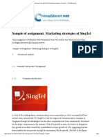 Sample of Assignment_ Marketing Strategies of SingTel - ChinaAbout