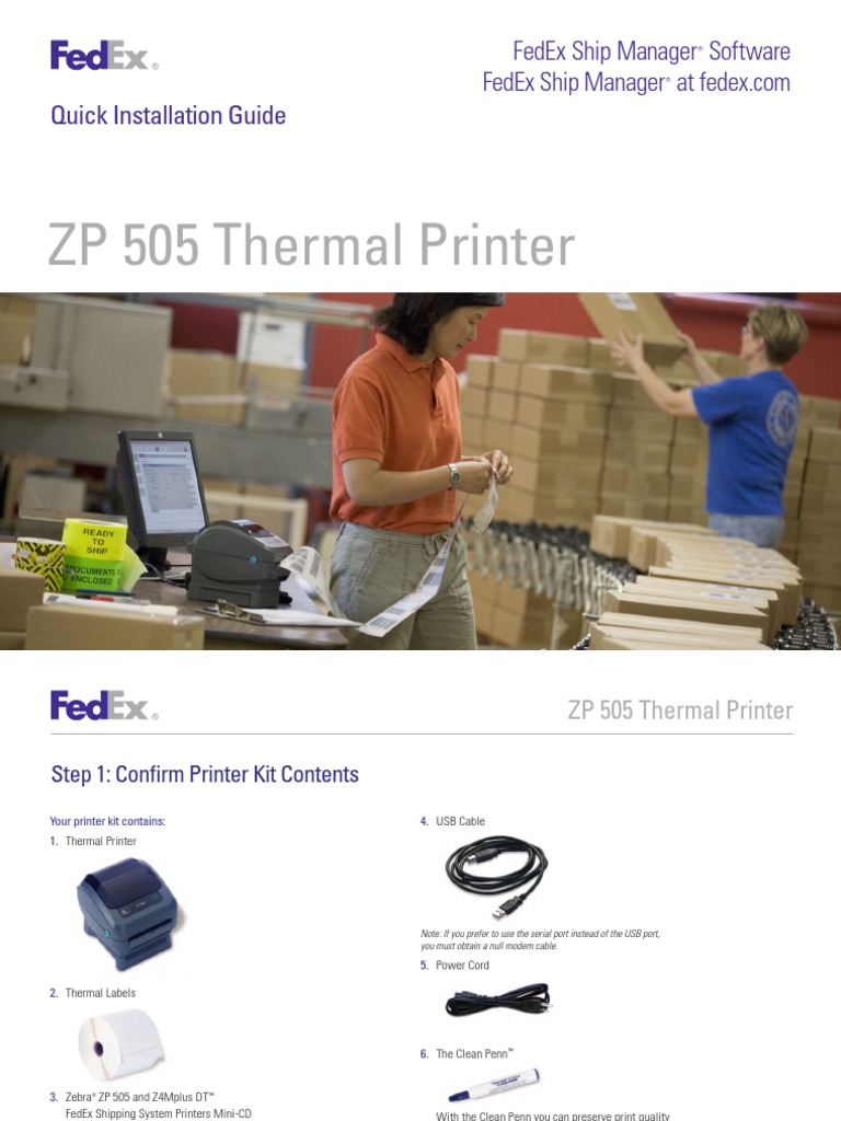 ZP505 Thermal Printer Install Guide | Printer (Computing) | Icon