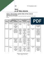 hurricane mitch answer sheet
