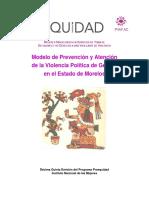 Modelo de Atención y Prevención de la Violencia Política de Género en el Estado de Morelos