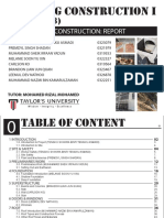 Building Construction I - REPORT