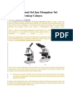 Cara Mengamati Sel Dan Mengukur Sel Dengan Mikroskop Cahaya