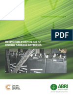 Recycling Energy Storage Batteries
