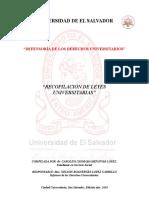 LEGISLACION UNIVERSITARIA COMPLETA