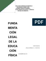 Fundamentación Legal de La Educación Física