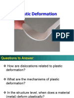 MSE 101 - Lecture 12 - Plastic Deformation