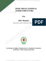 MBA Regular I Sem R16 jntuk