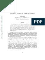 Physics of Vacuum at ITEP and Around