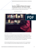 consumption junction  childhood obesity determined largely by environmental factors not genes or sloth - scientific american