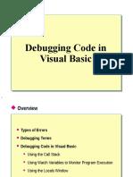 Debugging Code in Visual Basic