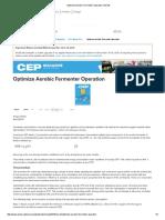 2. Aerobic Fermenter Operation Optimization