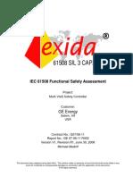 GE 07-06-11 R002 V1R1 IEC 61508 Assessment