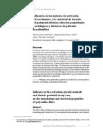 Influencia de los métodos de activación del crecimiento y la velocidad de barrido del potencial eléctrico sobre las propiedades morfológicas y eléctricas de películas de polianilina