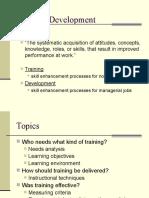Organization Development. Training