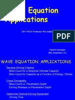 2011 Pdca Wave Equation Applications