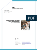 Enterpreneurship and Microfinance