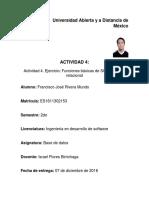 Actividad 4, Unidad 3, Base de datos UNADM