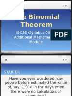 PPT on Binomial Theorem_Sec 4 a Math