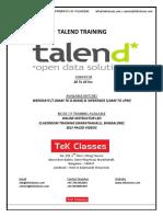 Talend Training   Talend Online Training