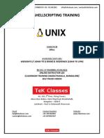 Unix Shell Scripting Tutorial | Unix Shell Scripting Online Training