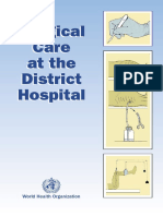 WHO - Surgical Care at the District Hospital (WHO 2003)