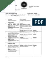 Farhad Ullah Observation Sheet