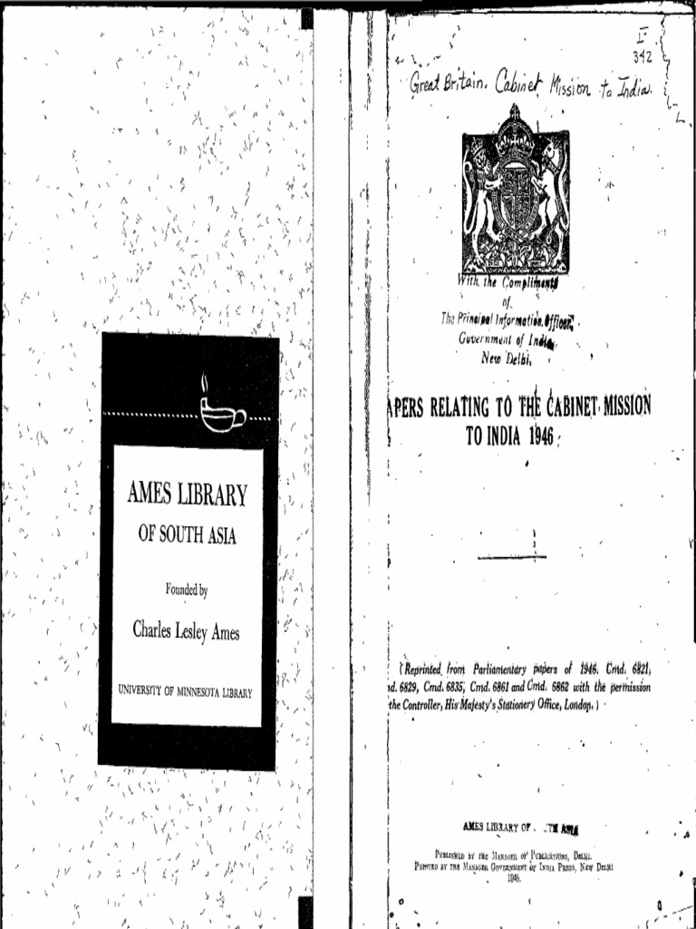 Cabinet Mission Papers 1946