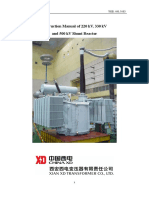 Instruction Manual for 500kV Shunt Reactor