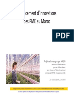 Financement Dinnovations de PME Au Maroc Presentation Roland Siebeke